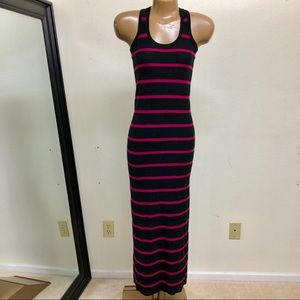 Stripe Tank Racerback Maxi Dress XS